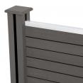 Kit de départ panneau occultant RIO en bois composite gris 60x160 cm
