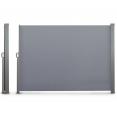 Paravent extérieur rétractable 300 x 160 cm gris clair store latéral