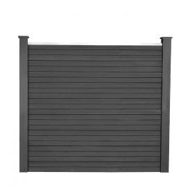 Kit de départ panneau occultant RIO en bois composite gris 160x160 cm