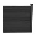 Kit d'extension panneau occultant RIO en bois composite gris 160x160 cm