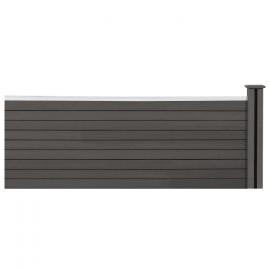 Kit d'extension panneau occultant RIO en bois composite gris 60x160 cm