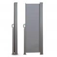 Paravent extérieur rétractable 300 x 200 cm gris clair store latéral