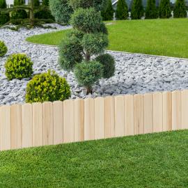Lot de 10 bordurettes de jardin en bois