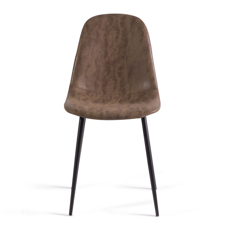Lot de 4 chaises vintage DALI marron pour salle à manger IDMarket
