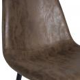 Lot de 4 chaises vintage DALI marron pour salle à manger