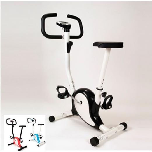 Vélo d'appartement noir fitness cardio