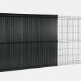 Kit occultant gris H. 173 cm lamelles PVC rigides qualité PRO