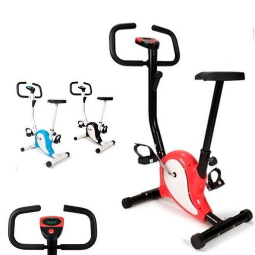 Vélo d'appartement rouge fitness cardio