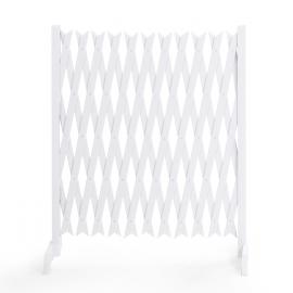 Barrière extensible blanche treillis plastique