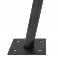 Mât de fixation pour voile d'ombrage H. 220 cm x Ø 32 mm poteau et base acier