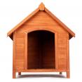 Niche en bois XXL surélevée pour chiens toit ouvrant
