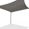 Voile d'ombrage carré 4x4 M gris