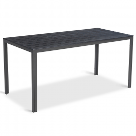 Table de jardin SUNY 156 cm gris foncé