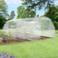 Serre horticole 18m2 transparente 2 portes 200gr