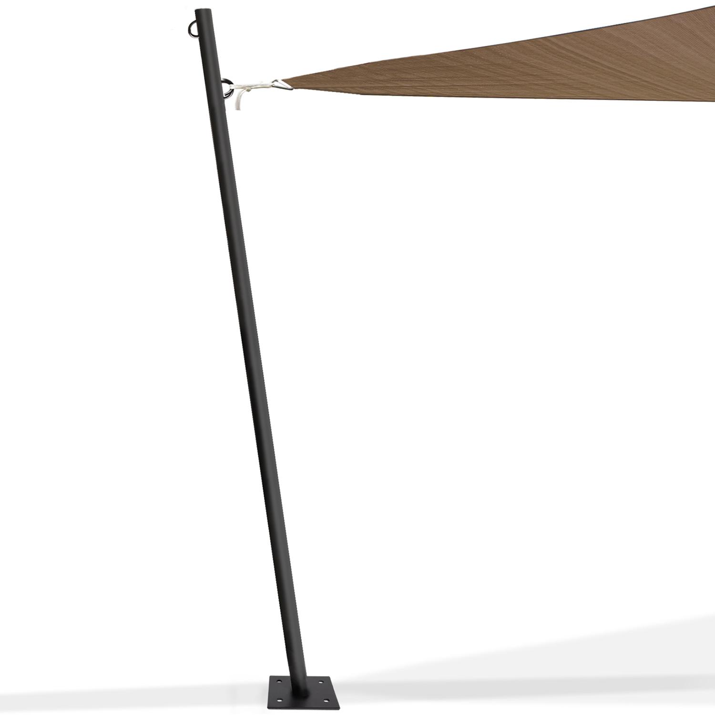 Fixation Voile D Ombrage mât de fixation pour voile d'ombrage h. 220 cm x Ø 32 mm poteau et