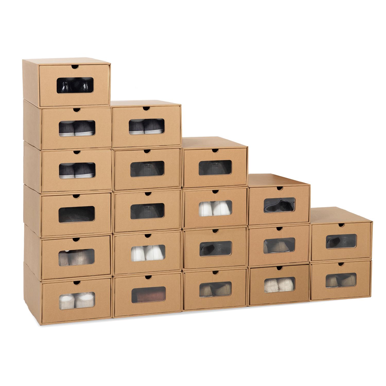 Rangement À Chaussures Gain De Place lot de 20 boites de rangement à chaussures avec tiroir idmarket