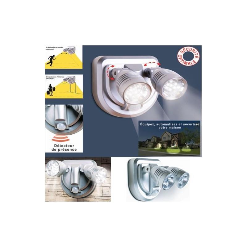 Lampe sans fil volution duo orientable avec d tecteur de for Lampe exterieure sans fil