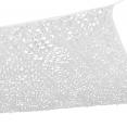 Voile d'ombrage carré design ombrière camouflage 3x3 m blanc