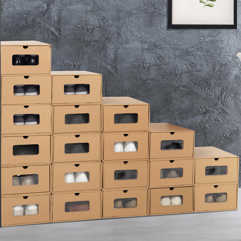 Boite De Rangement Carton Pour Chaussures Avec Tiroirs Lot De 20 Id Market