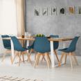 Lot de 6 chaises SARA bleues pour salle à manger