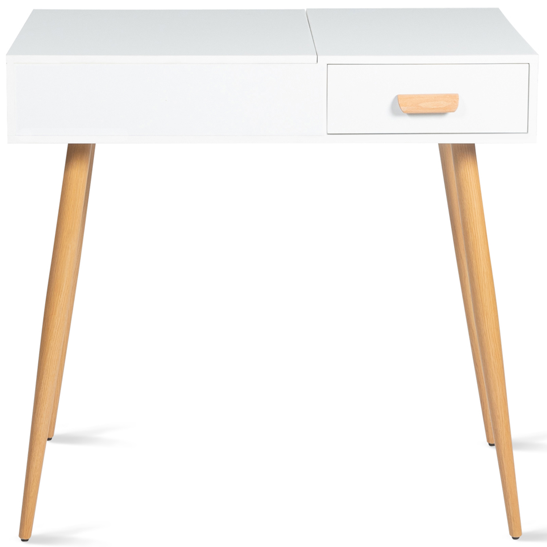 Table Rabattable Petit Espace coiffeuse scandinave lisa miroir rabattable idmarket