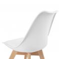 Lot de 6 chaises SARA mix color blanc, gris clair, bleu canard x2, gris foncé x2
