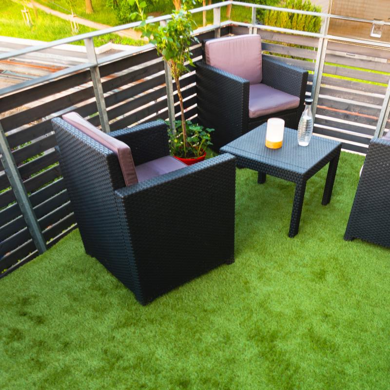 gazon synth tique artificiel 1x4m 7 mm en rouleau pour jardin et balcon