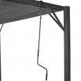 Pergola lames orientables gris anthracite 3x4 m 4 pieds