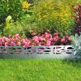 Bordurette de jardin x5 acier ajouré L. 5 x H. 0.18 M