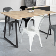 Table à manger ROSALIE design industriel 150 CM