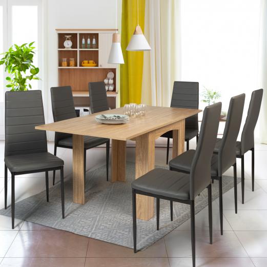 Table A Manger Extensible Dona 6 8 Personnes Hetre 80 160cm