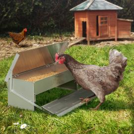 Mangeoire à poules en acier galvanisé 5 kg