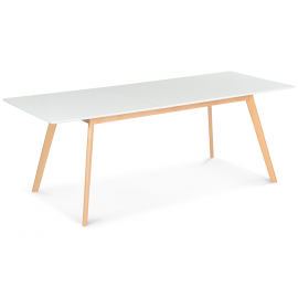Table extensible scandinave blanche 160-200 CM INGA