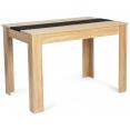 Table à manger ROZY 110 cm hêtre et noire