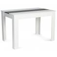 Table à manger ROZY 110 cm blanche et grise