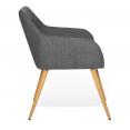 Lot de 2 fauteuils DANIA gris anthracite