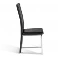 Lot de 4 chaises CATY noires pour salle à manger