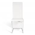 Lot de 4 chaises CATY blanches pour salle à manger