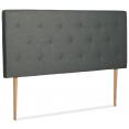 Tête de lit scandinave capitonnée Alta 140 cm tissu gris foncé