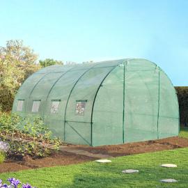 Serre de jardin tunnel 12 m² verte translucide 3x4 m