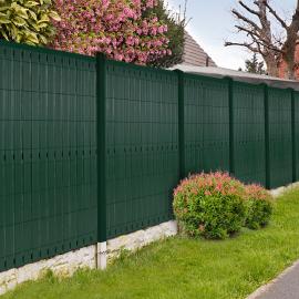 Kit occultant vert L. 250 x H. 173 cm lamelles PVC rigides qualité PRO