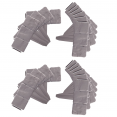 Lot de 20 bordurettes de jardin imitation pierre L. 5,1 x H. 0,23 M
