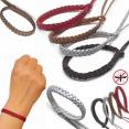 Lot de 10 bracelets anti-moustiques 100% naturel répulsif citronnelle simili cuir
