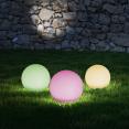 Lot de 5 lampes boules LED solaires multicolores avec télécommande