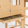 Poulailler avec pondoir clapier en bois