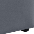 Lit coffre AUSTIN PVC gris avec sommier 140x190 cm