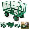 chariot remorque de jardin cross 300 kg de capacité sans bâche