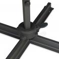 Parasol déporté rectangulaire CALVI 3x4 M écru rotatif 360° avec housse