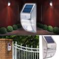 Applique solaire led sensor avec détecteur de mouvement inox