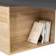 Table basse rotative bois gris 360° LIZZI contemporaine